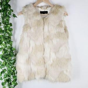 Steve Madden Faux Fur Shaggy Vest Medium
